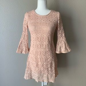 RN Studio Pink Lace Dress Sz 6P